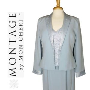 MONTAGE by Mon Cheri MOB Beaded Dress with Jacket